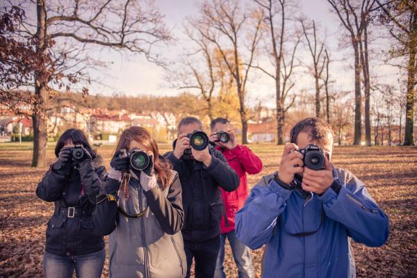 Fotografické kurzy České Budějovice - studenti v akci
